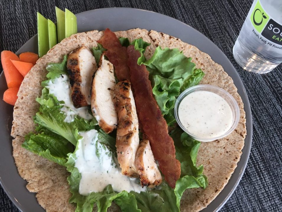 Grilled Chicken, Bacon, Ranch Wrap